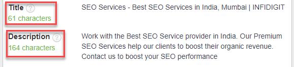 Optimize your website via appropriate Title & Meta Description