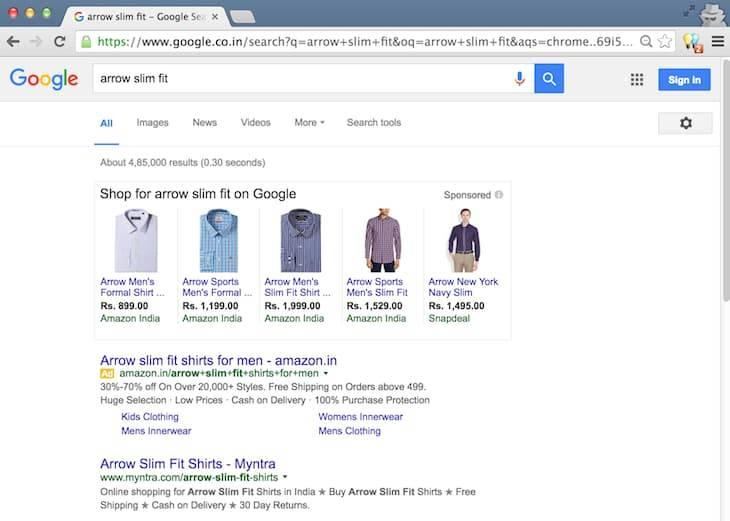 Arrow Slim Fit Desktop Search
