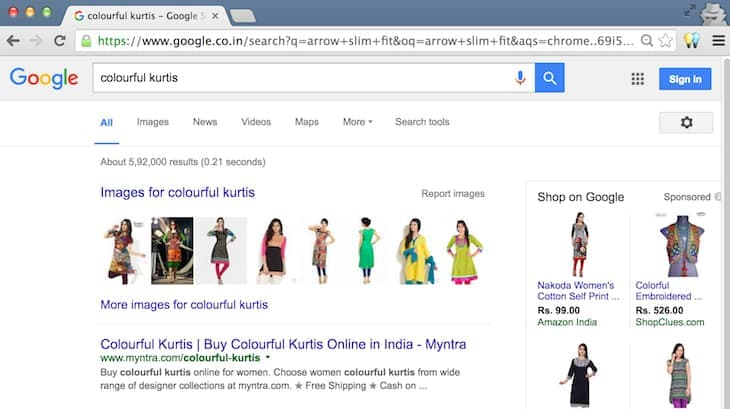 Colorful Kurtis Desktop Search