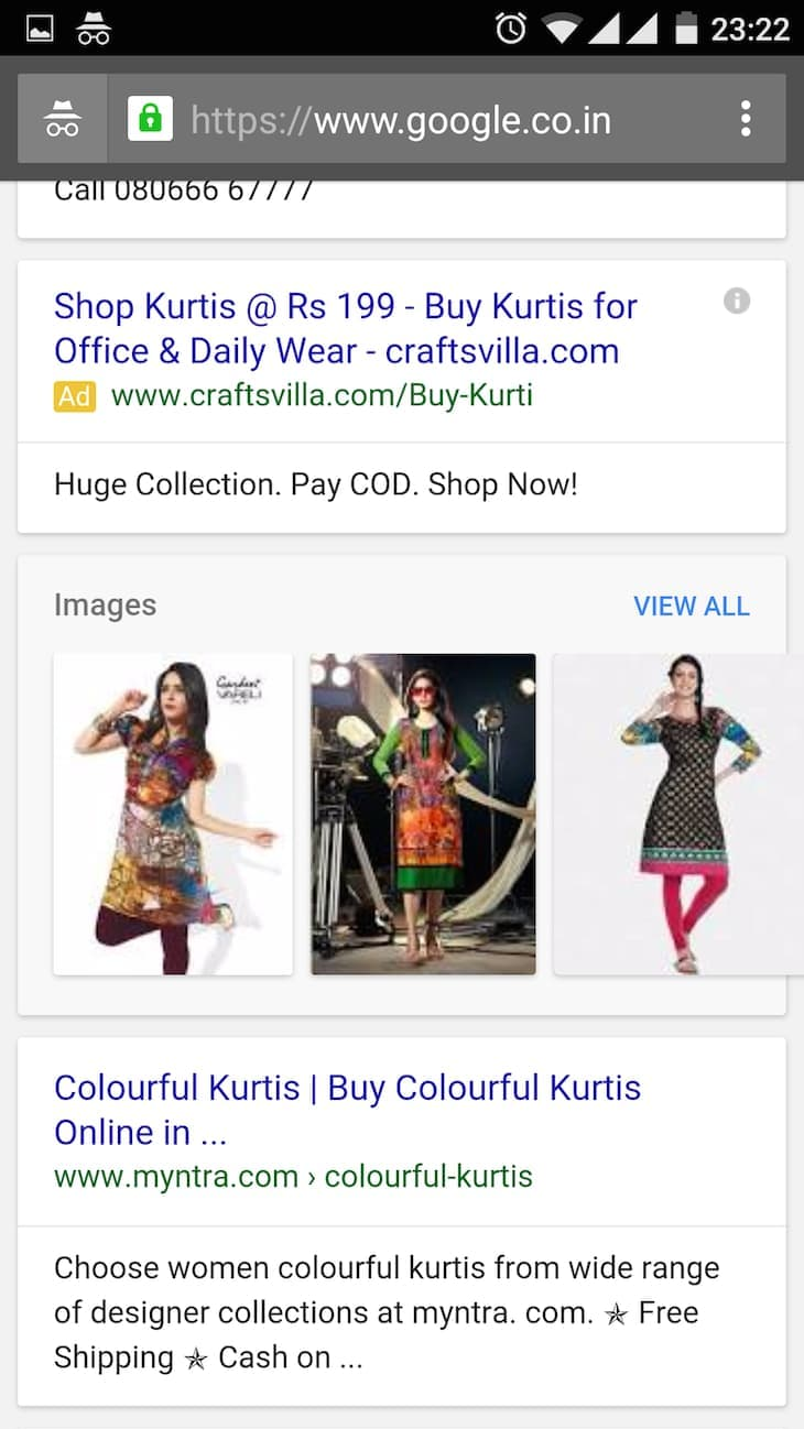 Colorful Kurtis Mobile Search