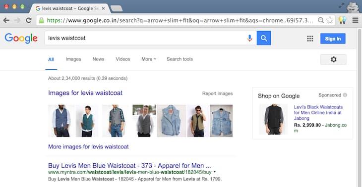 Levis Waistcoat Desktop Search