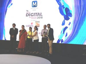 Team INFIDIGIT receiving the IDMA Award 2018