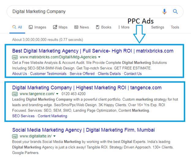 PPC (Pay Per Click) Ads