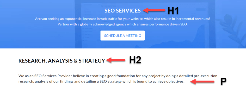 Optimize your website via appropriate Header Tags