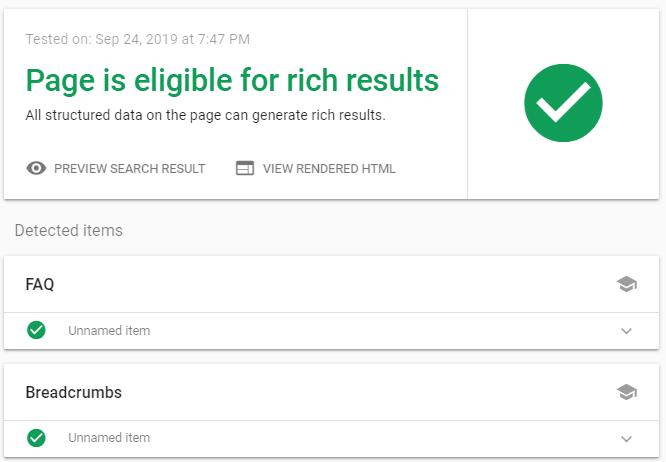 Optimize your website via Rich Results