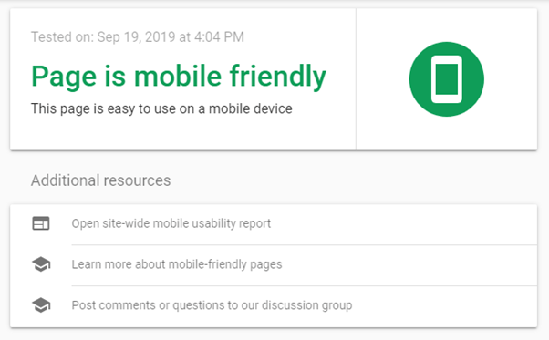 Mobile friendly site is one of the important ranking factors