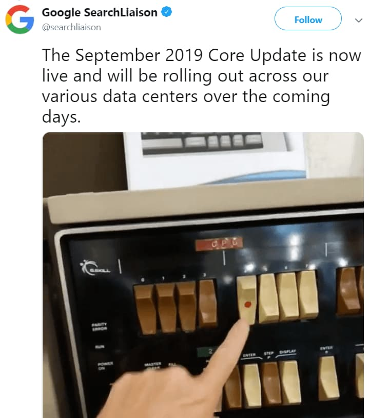 Google September Core Algorithm