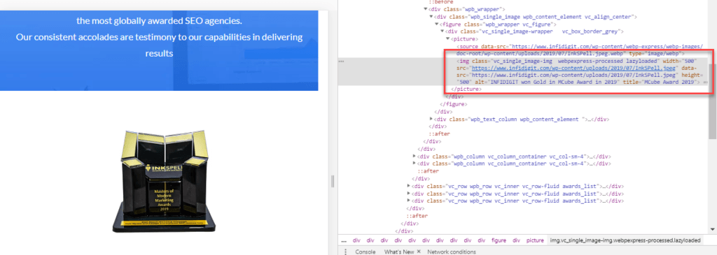 Optimize your website using appropriate alt tags for images