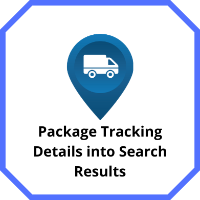Package Tracking Details into Search Results