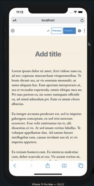 Wordpress Mobile Toolbar Action