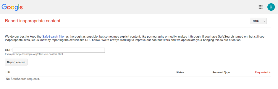 Report Inappropriate Content