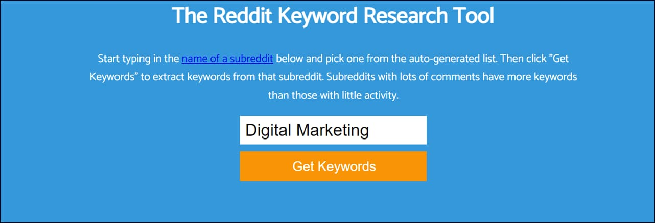 Keyworddit - Keyword Research Tool