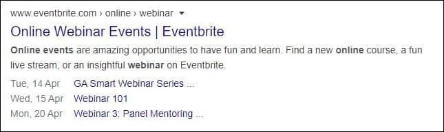Event Schema Markup