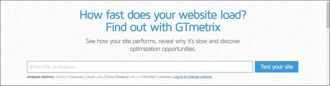 GT Metrix Tool