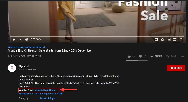 Add Links in the Description