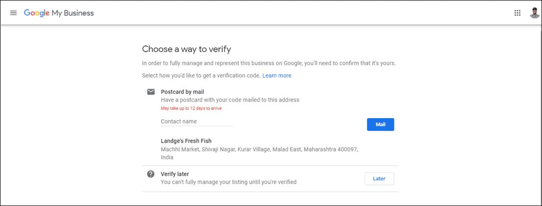 Verify Google Business