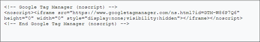No Script Code
