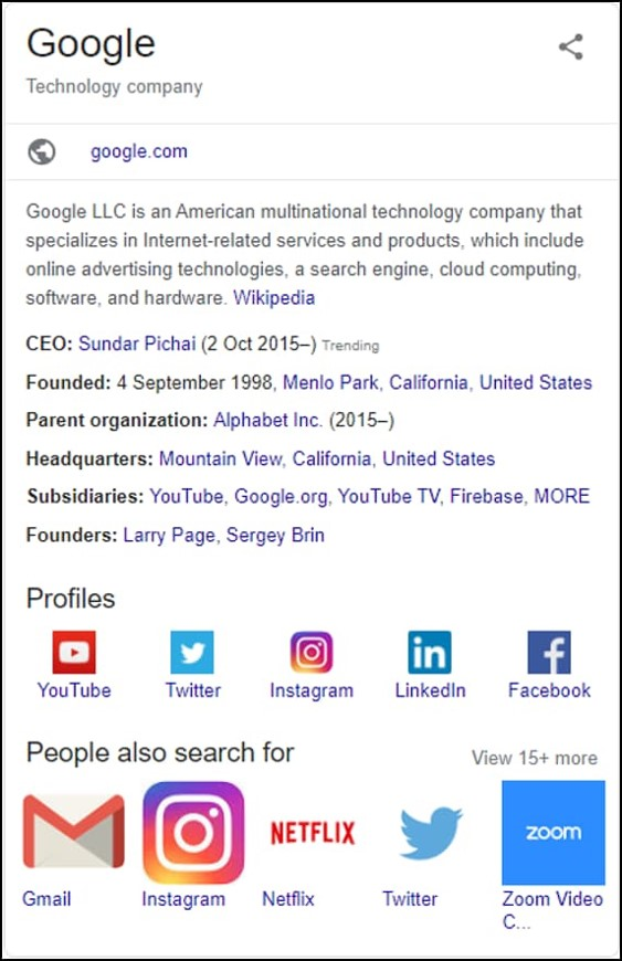 Knowledge Graph Panel