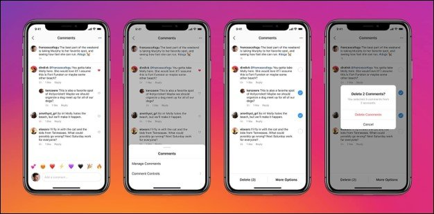 Removing unwanted comments from Instagram