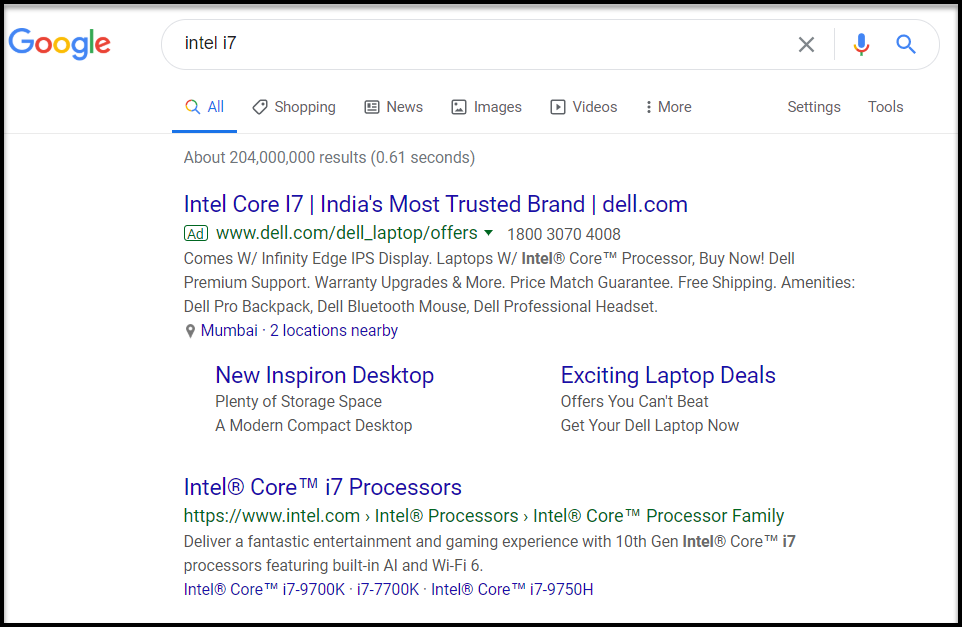 Search Term for a product