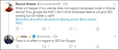 John Muller's response to the tweet