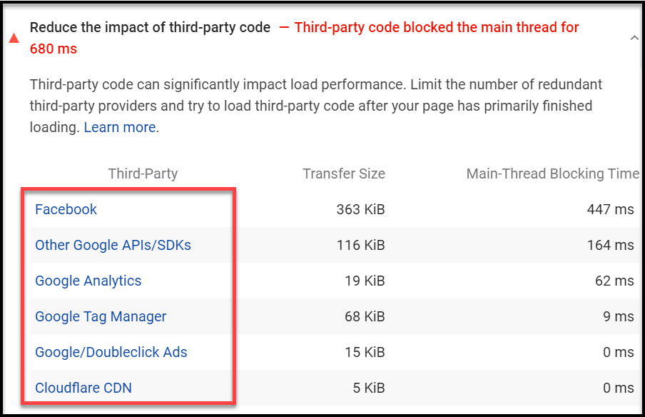 Reduce the Impact of Third-Party Code