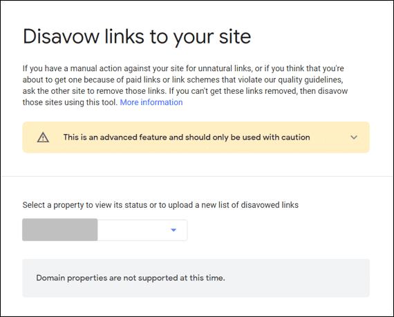 Domain Properties Disavow