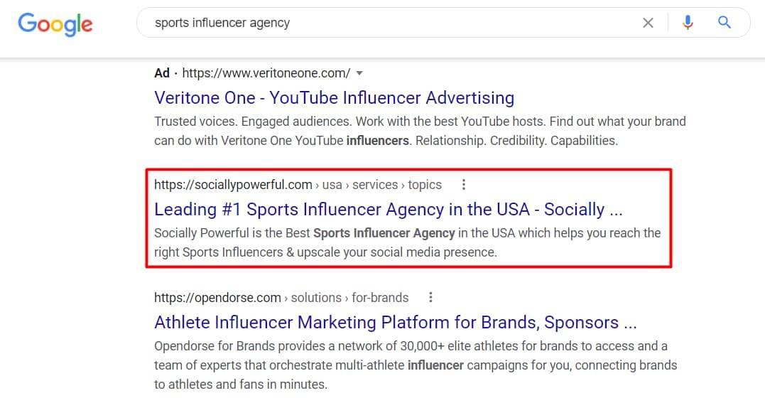 Sports Influencer agency