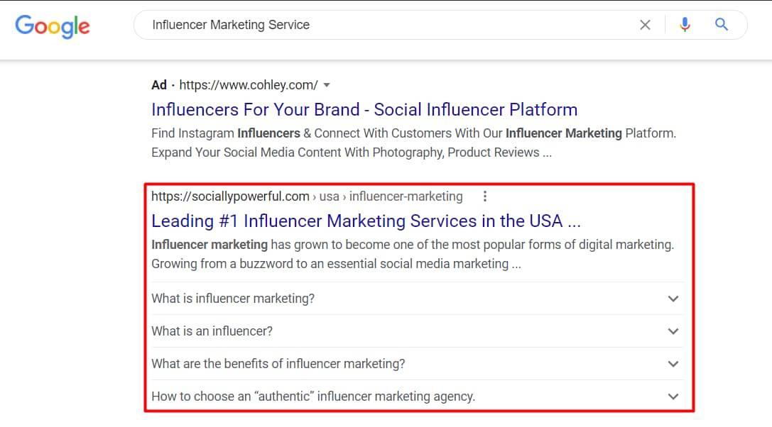 Influencer Marketing Service