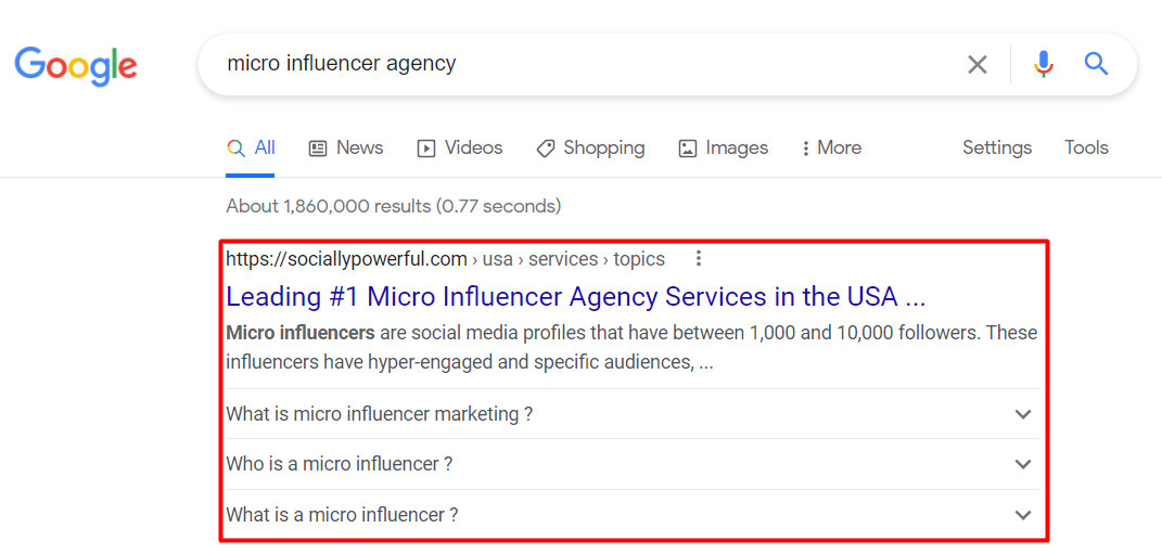 Micro Influencer Agency