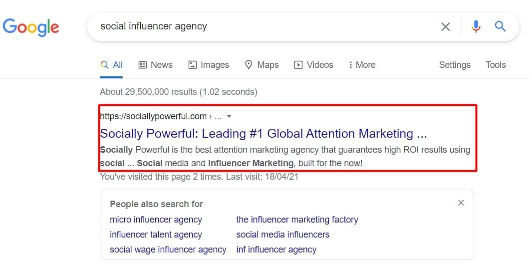 Social influencer agency