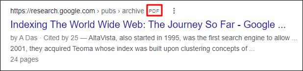 PDF on SERP